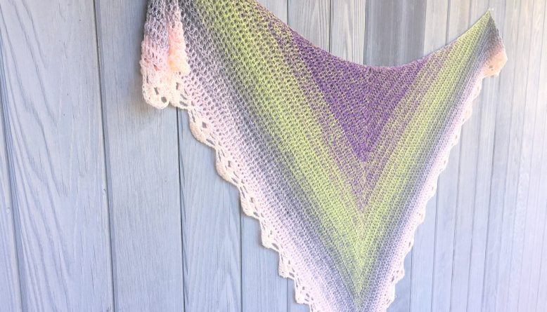 pretty little thing crochet shawl pattern