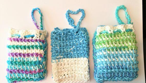 crochet soap cozy