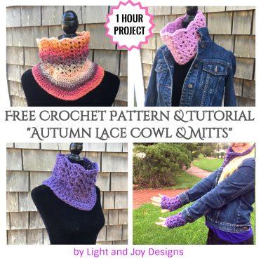 Free Crochet Cowl & Mitt Pattern Set