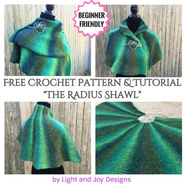 The Radius Shawl - Free Beginner Tunisian Crochet Pattern