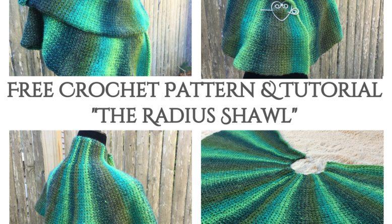 The Radius Shawl - Free Beginner Tunisian Crochet Pattern