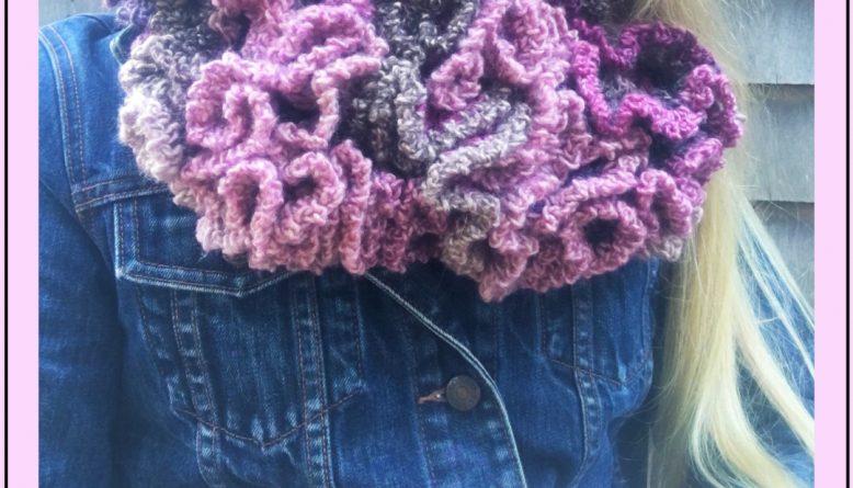 Crochet Ruffle Scarf - Flamenco Dreams
