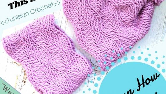 Sideways Wavy Knit Hat & Cowl Set Pattern Tutorial