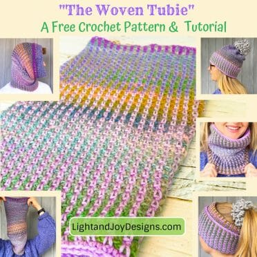 The Woven Tubie Free Crochet Pattern Hat Cowl