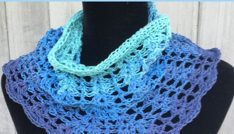 Turquoise Sea Summer Cowl CROCHET PATTERN