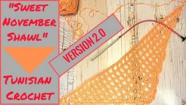 Sweet November Shawl Tunisian Crochet Version 2