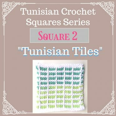 Tunisian Tiles Crochet Square