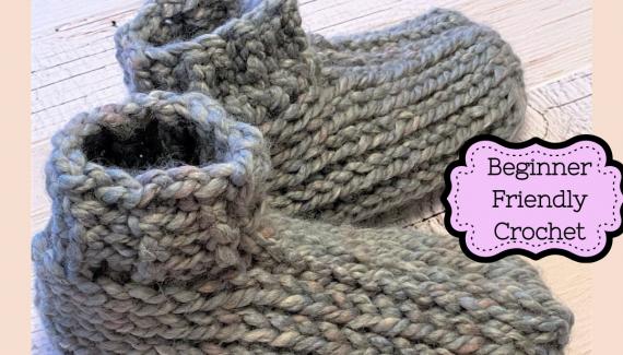 Tunisian-Crochet -Knit-Booties-