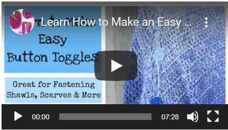 crochet button toggle video tutorial